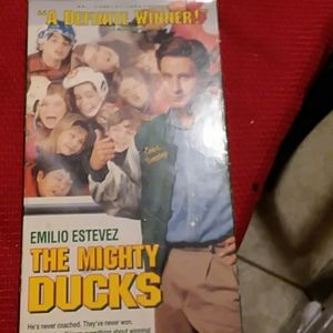 VCR Tape The Mighty Ducks Movie.